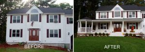 before after decks porches