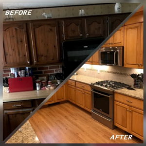 before after kitchen
